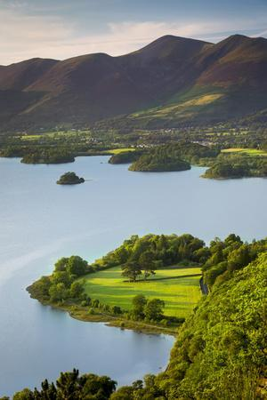View over Derwentwater, the Lake District, Cumbria, England
