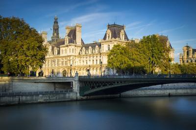 Hotel De Ville Along the Banks of River Seine, Paris, France
