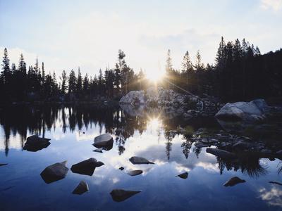 California, Sierra Nevada Mountains, Sunset over Skelton Lake, Inyo Nf