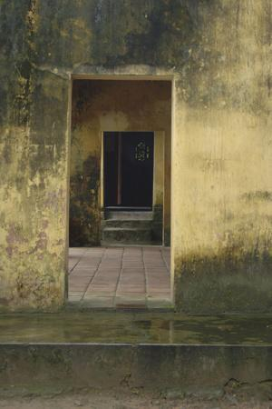 Asia, Vietnam. Entrance Doors at Hon Chen Temple, Hue, Thua Thien–Hue