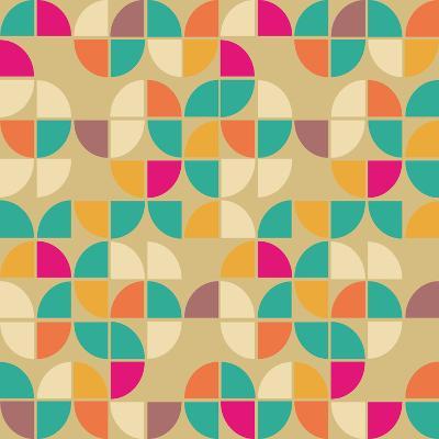 Seamless Pattern in Retro Style. Disco Vintage Background.