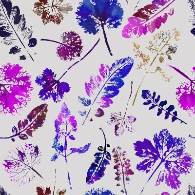 Crazy Beautiful Watercolor Pattern of Leaves.