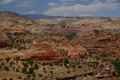 A High Angle View of Rock Formations in Grand Escalante National Monument, Utah