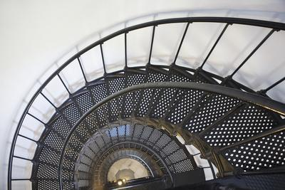 Spiral Stairway in Yaquina Head Lighthouse; Oregon United States of America