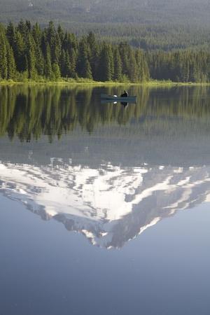 Mt. Hood Reflecting in Trillium Lake; Mt Hood National Forest, Oregon, USA