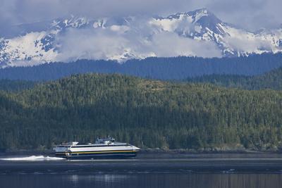 Alaska State Ferry Chenega in Orca Bay as it Departs from Cordova, Alaska