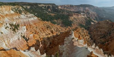 A Scenic High Angle View of Cedar Breaks National Monument, a Natural Amphitheater