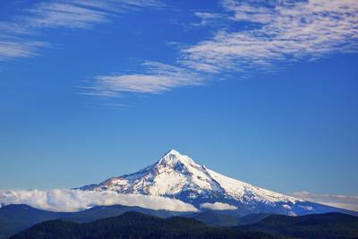 View of Mount Hood from Larch Mountains; Oregon United States of America