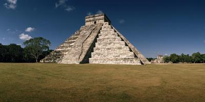 El Castillo, also known as the Temple of Kulkulkan, in Bright Sunshine