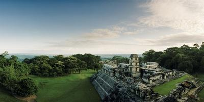 The Palenque Palace Complex with the Observation Tower Clearly Visible