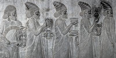Bas-Reliefs on the Great Staircase of Apadana Palace, Persepolis
