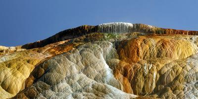 Detail of Travertine Rock Formations at Mammoth Hot Springs