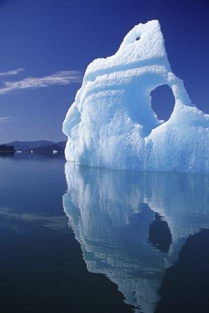 Huge Iceberg with Hole, Leconte Bay, Southeast, Alaska