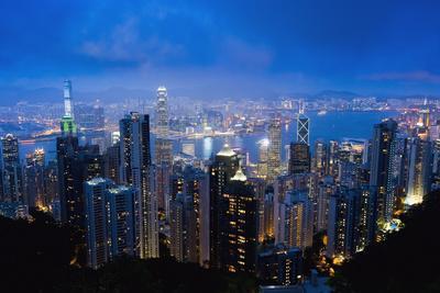 Victoria Peak, Hong Kong Island, China, Asia