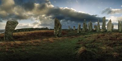 The Callanish Stones, a Megalithic Stone Circle Site