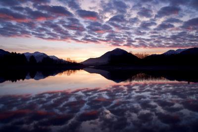 Castellanus Clouds over Mendenhall Wetlands State Wildlife Refuge Coast Mtns Southeast, Alaska