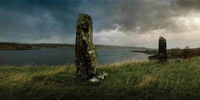Ancient Standing Stones Along Loch Snizort Beag