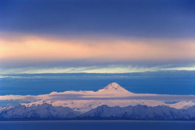Iliamna Volcano Seen across Cook Inlet from the Kenai Peninsula