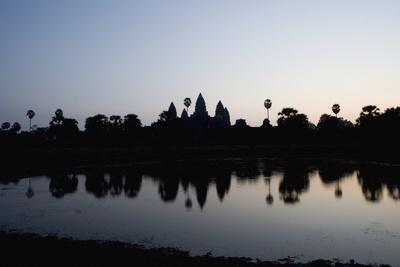 Silhouette of Ankor Wat Temple at Dusk, Angkor,Siem Reap,Cambodia