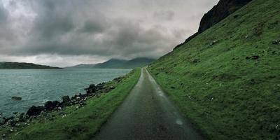 A Single Track Paved Road Along the Edge of Loch Na Keal