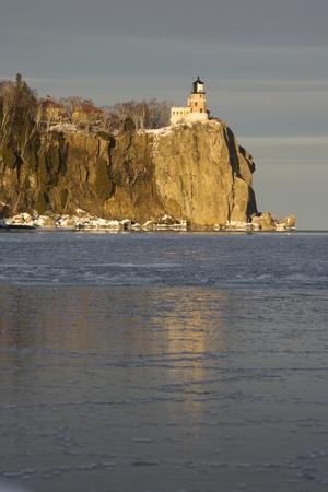 Split Rock Lighthouse on Lake Superior in Winter; Minnesota, USA
