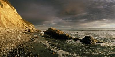 Sunset on Arroyo Burro Beach after a Storm