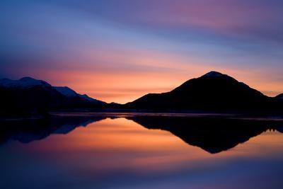 Pre-Dawn Light Reflecting in Gastineau Channel Juneau Alaska Southeast Winter