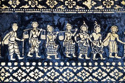 Motif on Side of Wat Xieng Thong