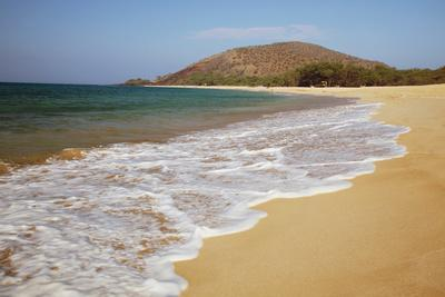 Hawaii, Maui, Makena, Big Beach on a Sunny Day