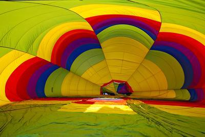 Interior of a Deflated Hot Air Balloon at the White Sands Invitational Balloon Festival