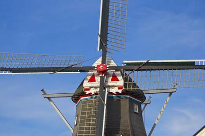 Looking Up at a Traditional and Historic Windmill