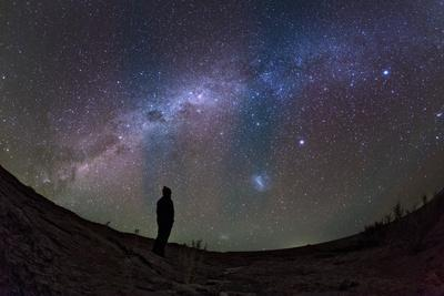 A Stargazer Watches the Southern View of the Milky Way