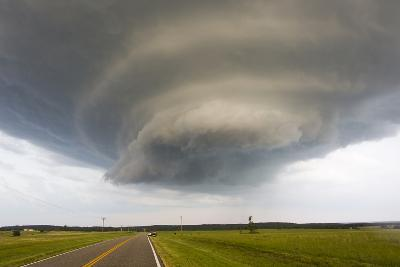 A Rotating Supercell Thunderstorm and Wall Cloud