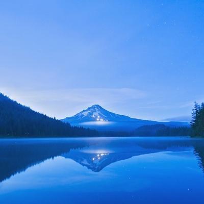 Oregon, United States of America; Mt. Hood Reflected into Trillium Lake