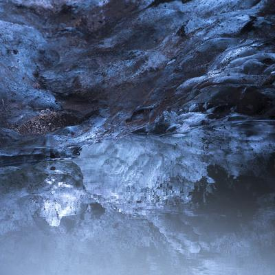 Photo of a Small Ice Cave Taken on Solheimajokull Glacier
