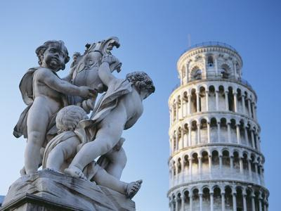 Leaning Tower of Pisa with Statue