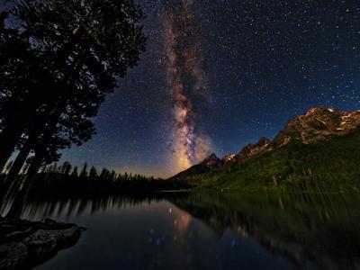 The Milky Way Shines over the Teton Range
