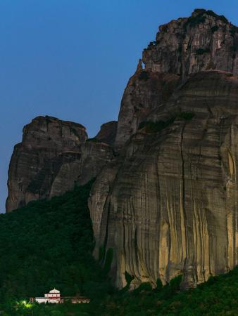 The World Heritage Site of Meteora at Early Dusk