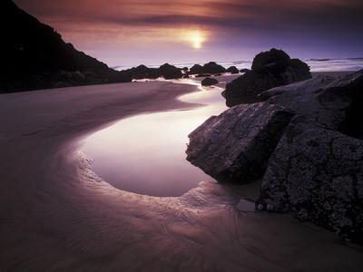 Cannon Beach at Sunset, Oregon
