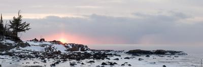 Winter Along Lake Superior at Sunrise; Minnesota, USA