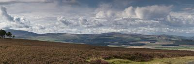 A Road Leading into the Distance and Dramatic Clouds over a Landscape; Northumberland England