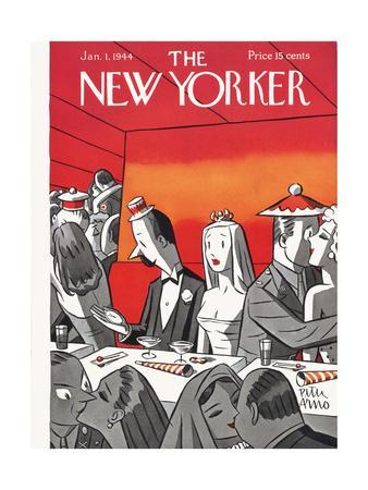 The New Yorker Cover - January 1, 1944