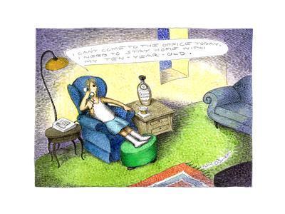 Ten-Year old Scotch - Cartoon