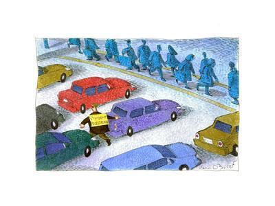 Student pedestrian - Cartoon