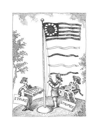 Stars and stripes - Cartoon