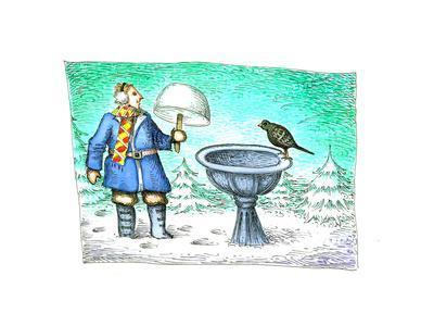 Birdbath - Cartoon
