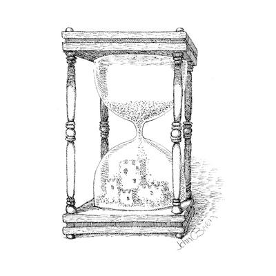 Hourglass and sandcastle - Cartoon