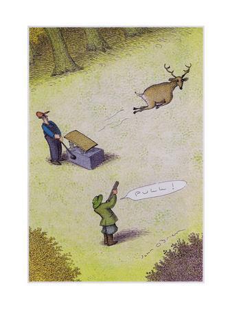 Target practice with a deer - Cartoon