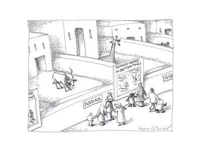 Animals at zoo - Cartoon