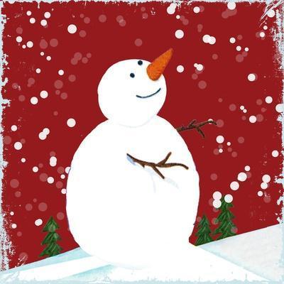 Snowman Red